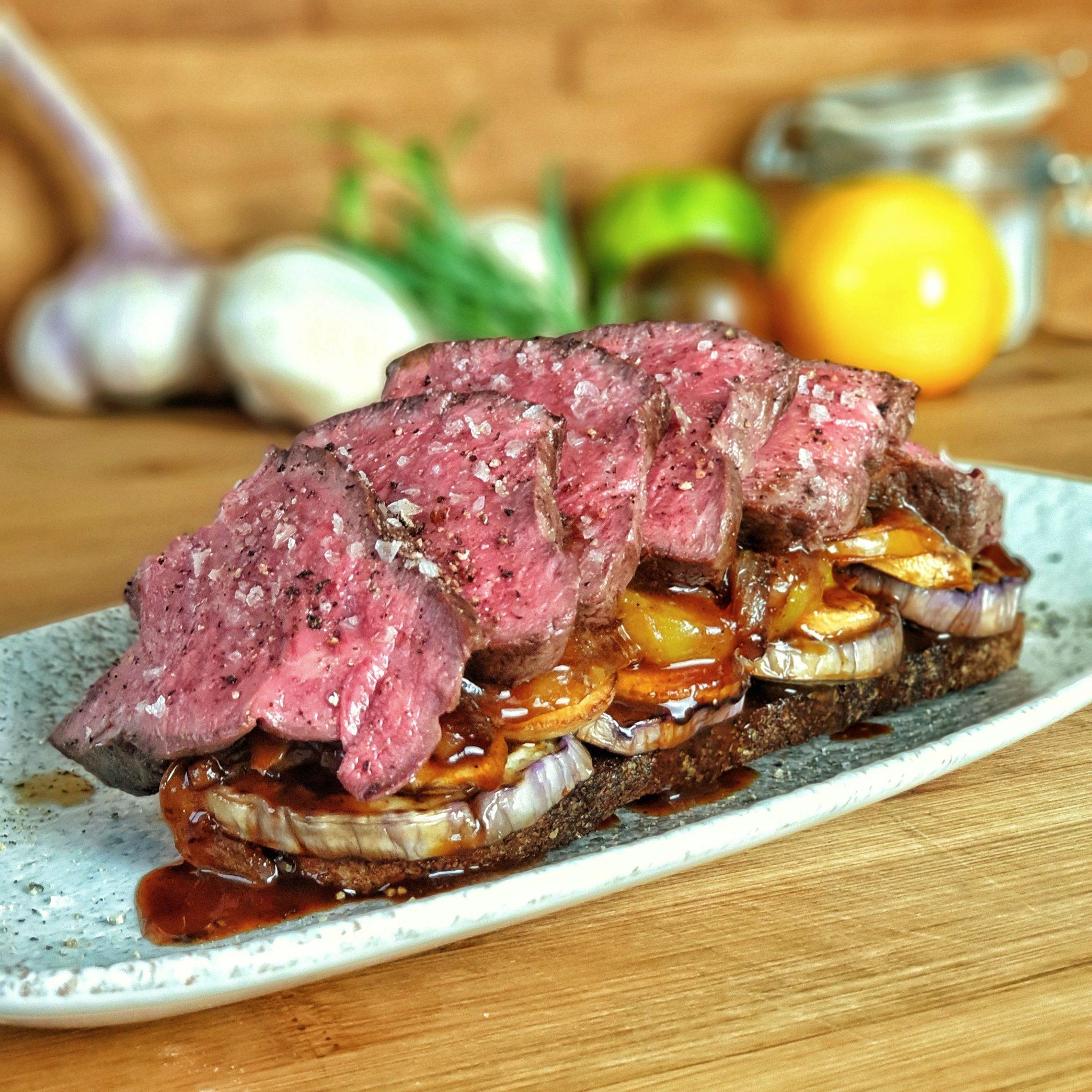 Steakstulle mit Filet von der Husumer Färse